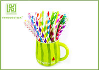 Beautiful Thin Star Paper Straws , Cocktail Drink Straws For Kids Birthday Party