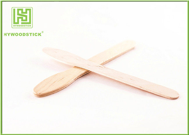Handmade Ice Cream Wooden Sticks Birch Wooden Wooden Eating Spoon 200 Bundle / Carton