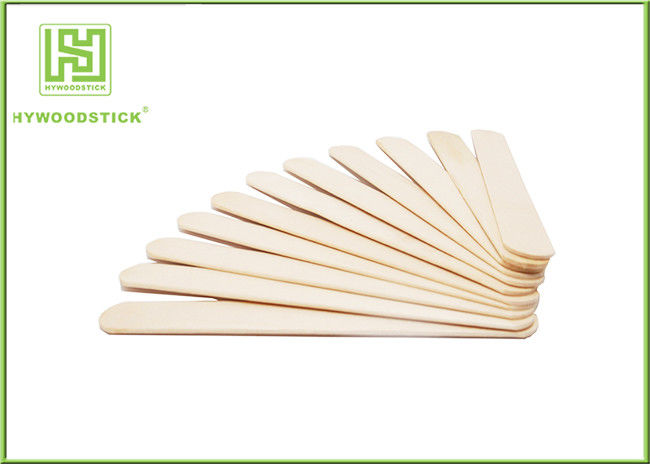 Natural Smell Wooden Tongue Depressor Flat Spatula For Medical Examination