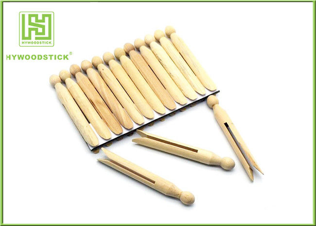 House Decorative Notched Craft Sticks , 110mm Wooden Fan Sticks Taste - Free