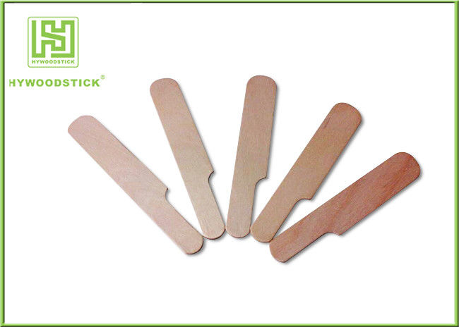 Dark Wood Applicator Sticks Diy Spatula , Hair Removal Wax Applicator Lightweight