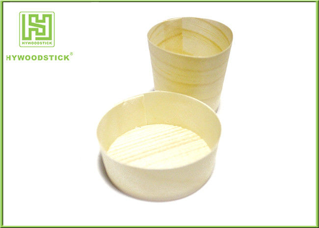 Disposable Pine Wooden Round Cup Mini Dessert Cup