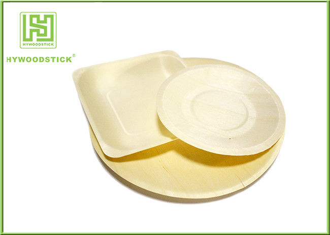 Eco Friendly Disposable Wooden Plates Bulk Camping Dinnerware Sets