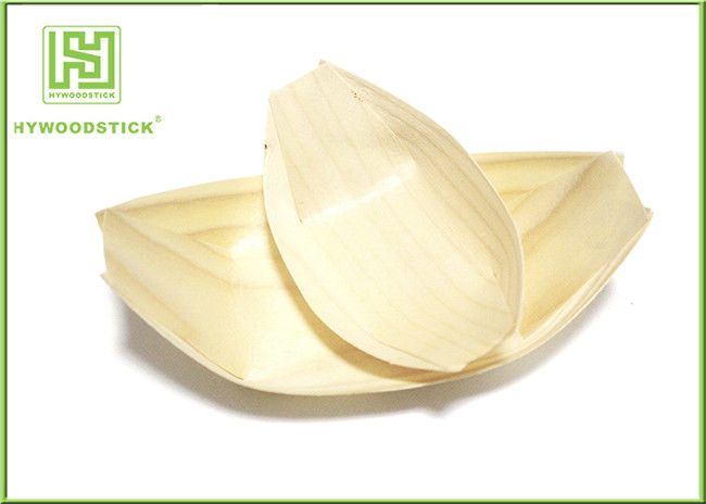 Natural Color House Kitchen Wares Wooden Sushi Boat For Restaurant